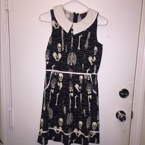 Skull/Anatomy Black&White Dress (glow in the dark)